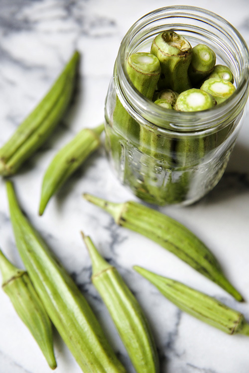 garlicy pickled okra 2