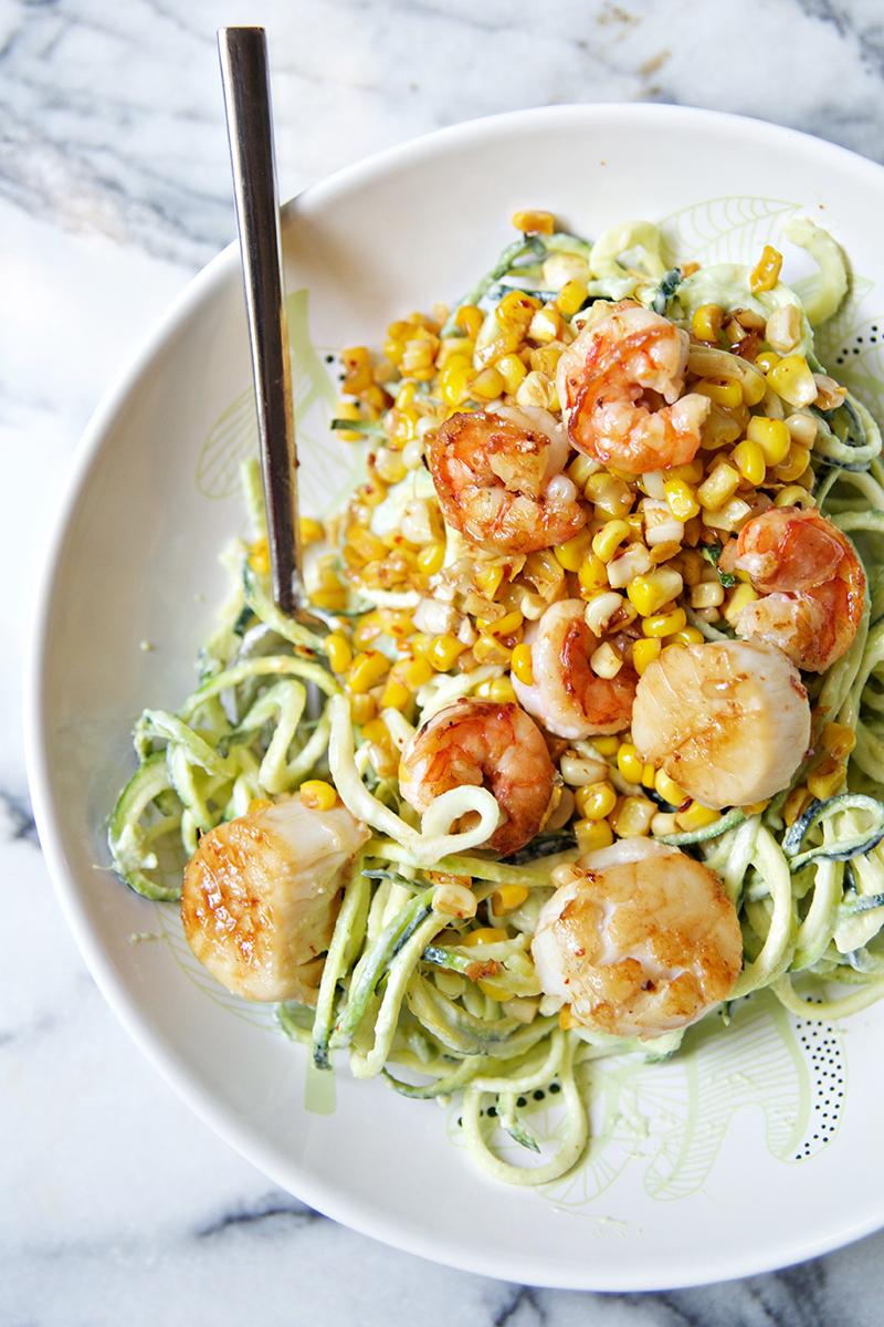 scallops & zucchini